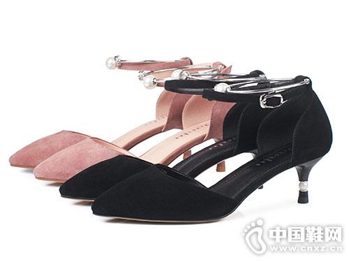 丹露时尚女鞋2018春季中空单鞋