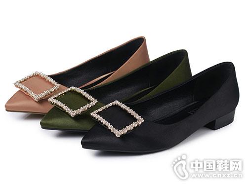 丹露时尚女鞋2018平跟单鞋