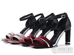 丹露时尚女鞋2018高跟凉鞋