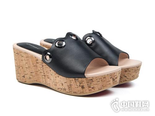 菲伯丽尔女鞋2018新款厚底凉鞋