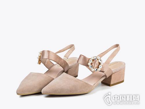 菲伯丽尔女鞋2018新款后空单鞋