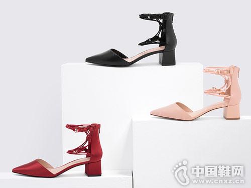 Charles & Keith女鞋2018新款中空单鞋