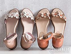 茵曼女鞋2018新款平底凉鞋
