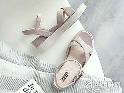 ZHR女鞋2018新款坡底凉鞋
