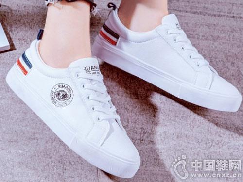 伟森女鞋2018新款小白鞋