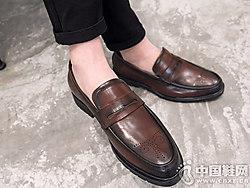 伟森男女鞋2018新款男皮鞋