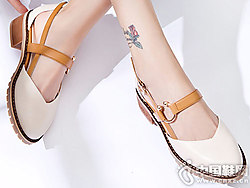 伟森女鞋2018新款后空单鞋
