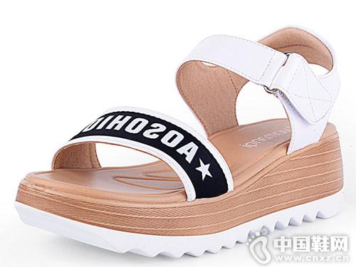 洛曼琪女鞋2018新款坡跟凉鞋