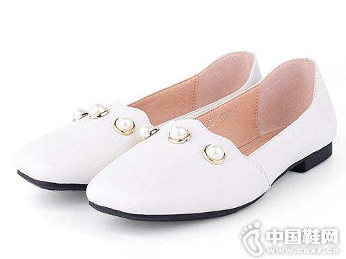 洛曼琪女鞋2018新款平跟單鞋