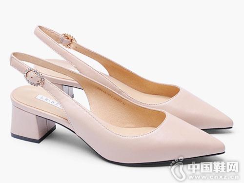 左右缤纷女鞋2018新款后空单鞋