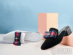 卡迪娜KADINA女鞋2018新款后空单鞋