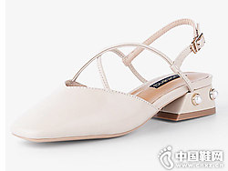 洛曼琪女鞋2018新款后空单鞋