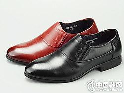 七品芝麻男鞋2018新款皮鞋