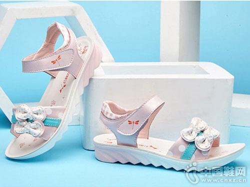 红蜻蜓童鞋2018新款女童凉鞋