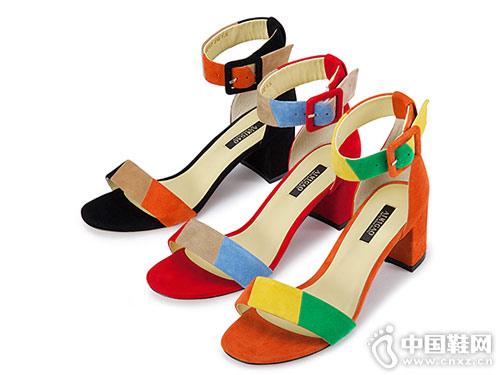 爱米高女鞋2018新款高跟凉鞋