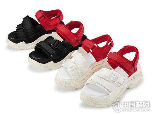 爱米高女鞋2018新款厚底凉鞋