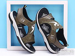 巴布豆童鞋2018新款男童凉鞋