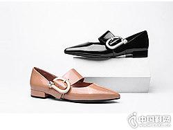 迪朵女鞋2018新款低跟单鞋