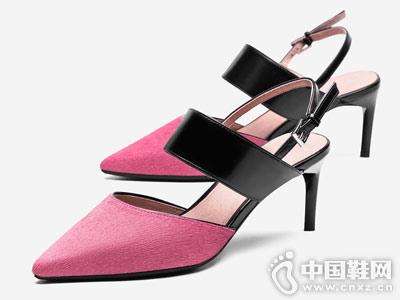 汤普葛罗女鞋2018新款后空单鞋