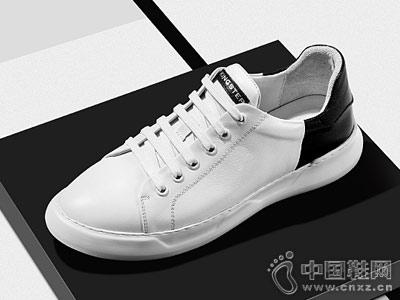 君步休闲男鞋2018新款小白鞋
