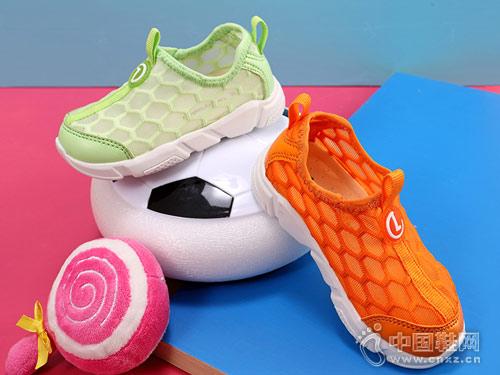 乐客友联童鞋2018新款镂空运动鞋
