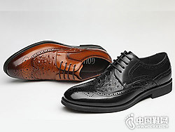 谷尔男鞋2018新款皮鞋