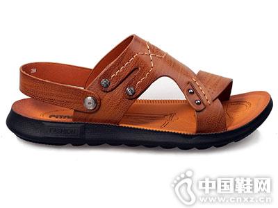 必登高皮鞋2018新款男士凉鞋