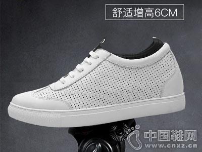 何金昌内增高鞋2018新款镂空板鞋
