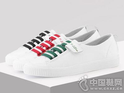 自由漫步男女鞋2018休闲板鞋