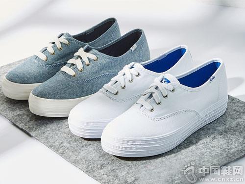 Keds休�e鞋2018新款小白鞋