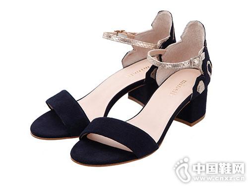 minelli女鞋2018新款粗跟涼鞋