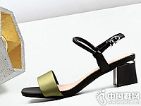 克克女鞋2018新款中跟凉鞋