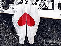 康彪男鞋2018新款爱心小白鞋