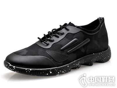百牛圆皮鞋2018新款休闲运动鞋