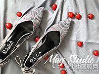 欧嘉女鞋2018新款后空单鞋