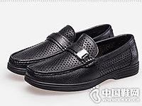 波士威尔男鞋2018新款休闲皮鞋