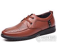 3515强人男鞋2018新款镂空单鞋
