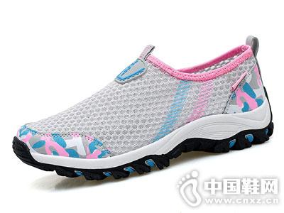 登云女鞋2018新款网布运动鞋