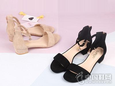 欧米高女鞋2018新款休闲凉鞋