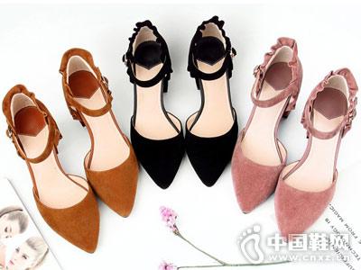 欧米高女鞋2018新款中空单鞋