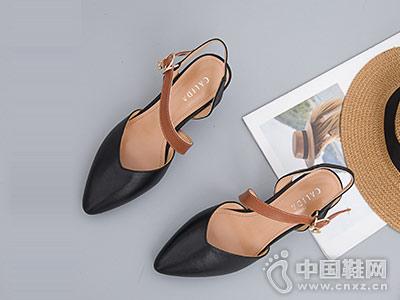卡莉丹女鞋2018新款后空单鞋