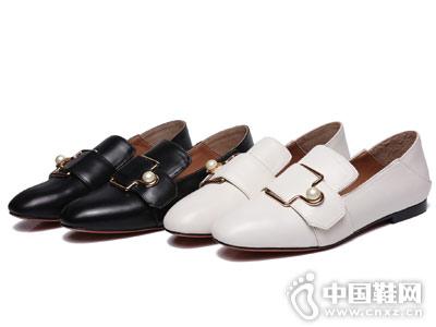 菲凯FEKKAI女鞋2018新款平跟单鞋