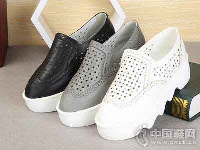 东帝名坊女鞋新款坡跟镂空单鞋