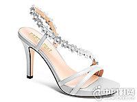 贝蒂佩琪白色高跟鞋女2018夏季新款