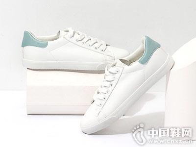 热风春新款小清新小白鞋
