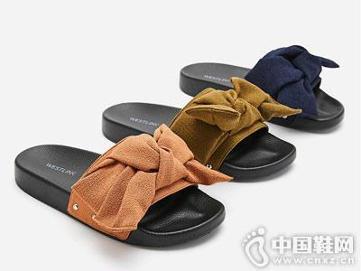 西遇女鞋2018新款平底拖鞋