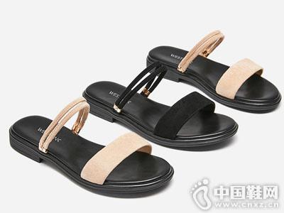 西遇女鞋2018新款两穿凉鞋女夏季