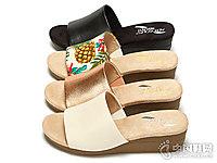 Aerosoles爱柔仕新款印花坡跟露趾高跟女鞋凉鞋