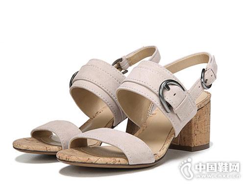 naturalizer娜然粗跟涼鞋