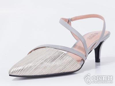 真美诗2018春夏新款简约气质单鞋